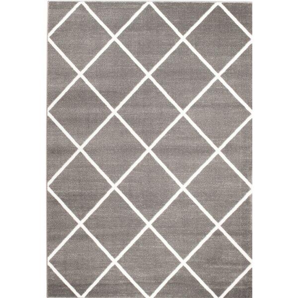 Bott Gray/White Area Rug by Wrought Studio