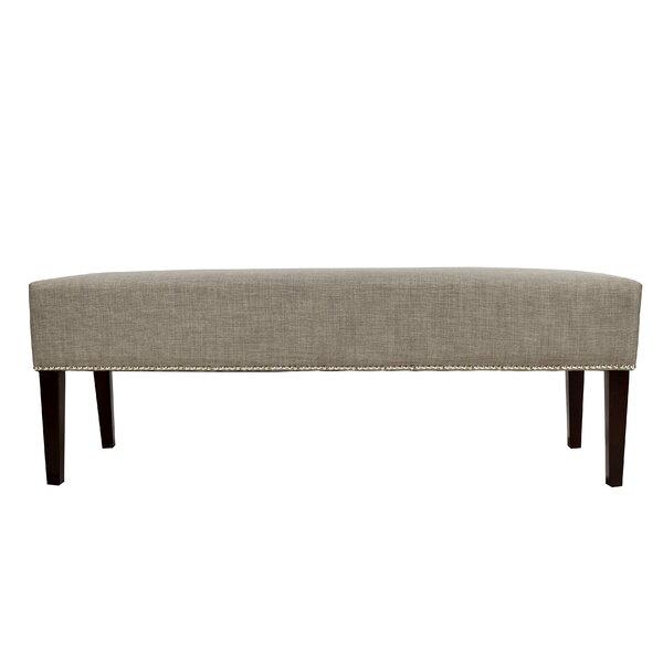 Woodside Upholstered Bench by Alcott Hill