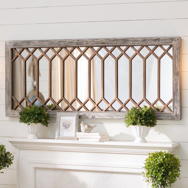 Polito Rectangular Mounted Accent Wall Mirror by Lark Manor