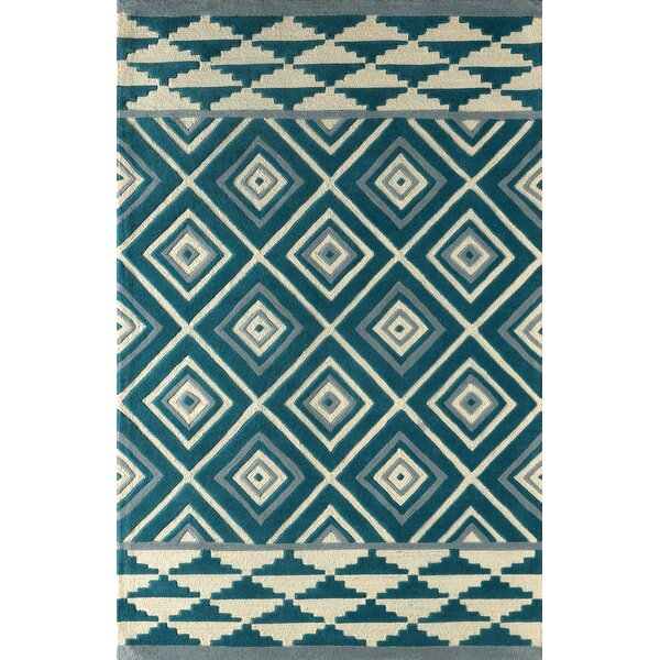 Luevano Hand-Tufted Lapis Area Rug by Brayden Studio