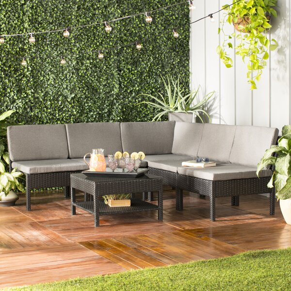 Maryann Patio Garden 6 Piece Sectional Seating Group With Cushions By Zipcode Design
