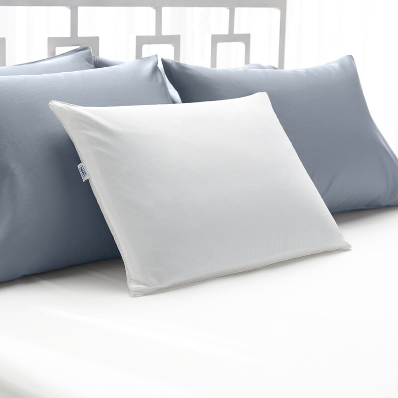 queen cooling gel pillow hydraluxe in watch white standard dual cool sided