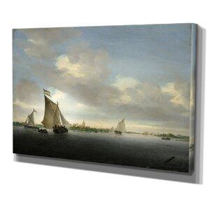 After the Rain by Salomon van Ruysdael Framed Print of Painting on Wrapped Canvas by Wexford Home