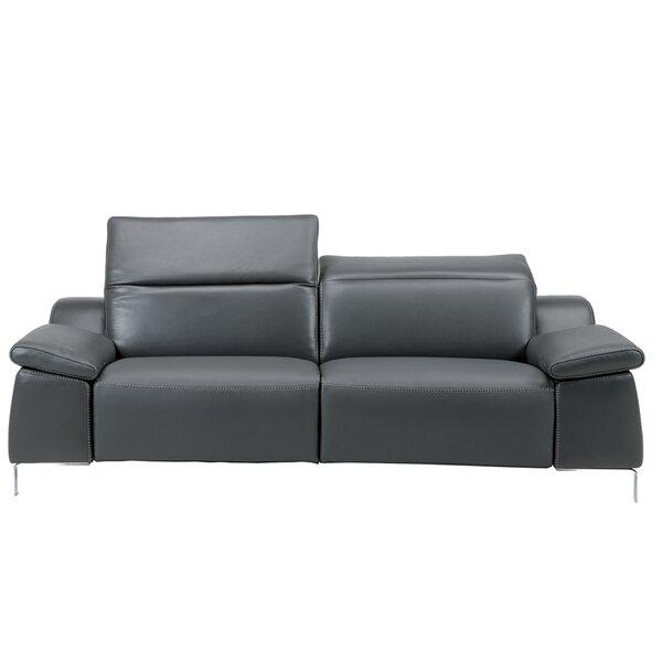 Hot Sale Dionne Leather Reclining Sofa by Orren Ellis by Orren Ellis