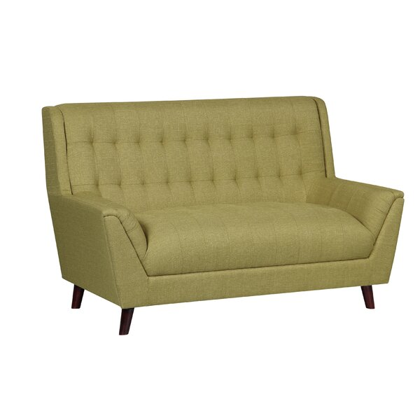 Shop Affordable Gorgonio Tufted Mid Century Loveseat by Trent Austin Design by Trent Austin Design