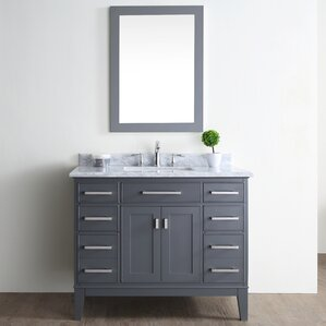 Single Vanities Youll Love Wayfair - Single bathroom vanity cabinets