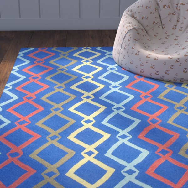 Zachariah Hand-Tufted Blue Area Rug by Zoomie Kids