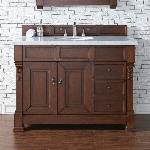 Bedrock 48 Single Bathroom Vanity Set with Drawers