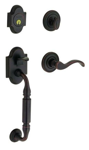 Canterbury Single Cylinder Handleset with Interior Lever and Sectional Trim by Baldwin