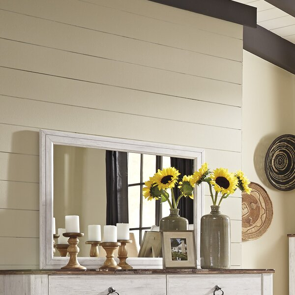 Naples Rectangular Dresser Mirror by Three Posts