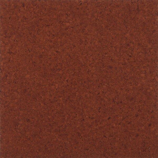 Floor Tiles 12 Solid Cork Hardwood Flooring in Terracotta by APC Cork