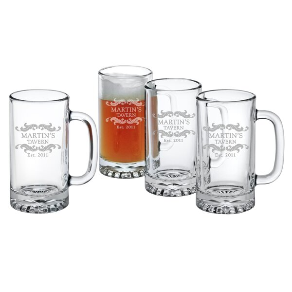 Personalized Home Tavern Pub Beer Mug (Set of 4) by Susquehanna Glass