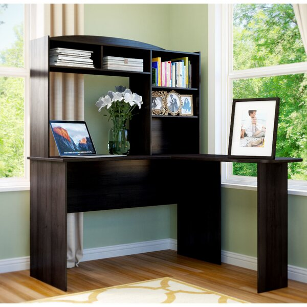 Marlton L Shape Desk With Hutch By Andover Mills.