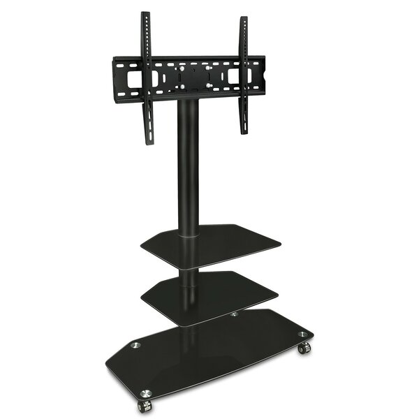 TV Cart Mobile 3 Glass Storage Shelves Fixed Floor Stand Mount 32-60 LCD/Plasma/LED by Mount-it