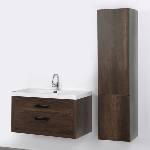 39 Wall Mounted Single Bathroom Vanity Set by Streamline Bath