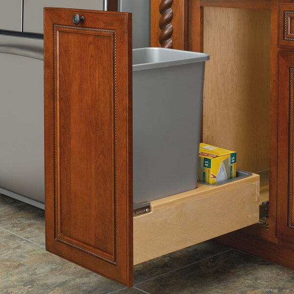 Bottom Mount 12.5 Gallon Pull Out Trash Can by Rev-A-Shelf