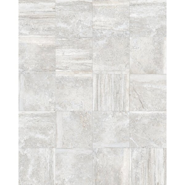 Vstone 19 x 19 Porcelain Field Tile in Silver Matte by Tesoro
