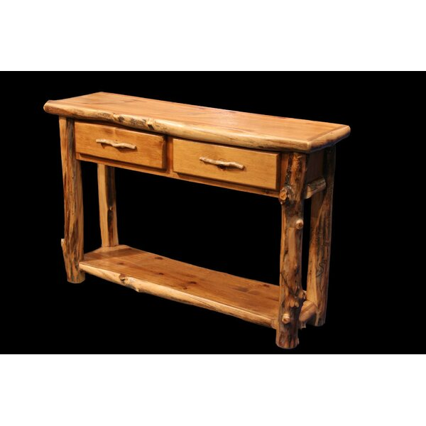 Amias 2 Drawer Console Table With Shelf By Millwood Pines