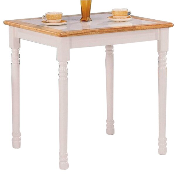 Dew Square Solid Wood Dining Table by August Grove