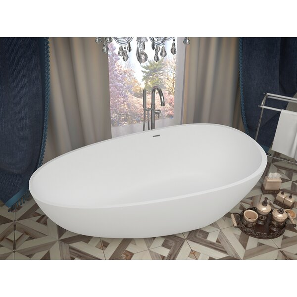 Fiume 67 x 33.5 Freestanding Soaking Bathtub by ANZZI