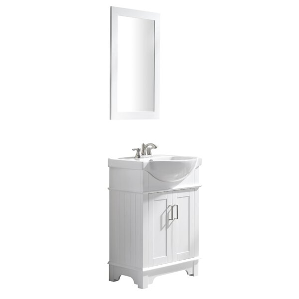 Paulene 24 Single Bathroom Vanity Set with Mirror by Ivy Bronx