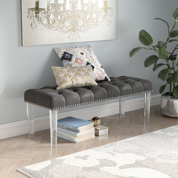 Adcock Button Tufted Upholstered Bench by Mercer41