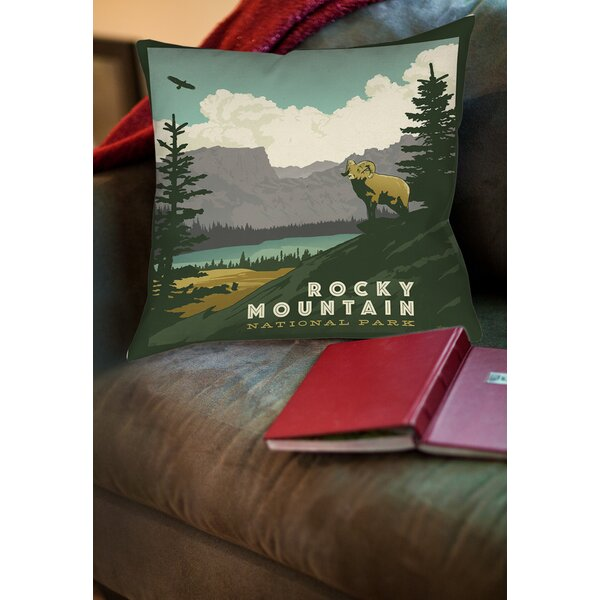 Rocky Mountain National Park Printed Throw Pillow by Manual Woodworkers & Weavers