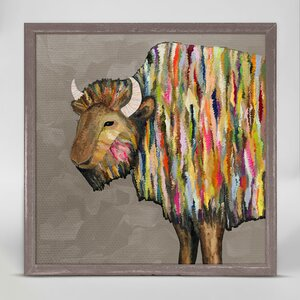 'Bison on Putty' by Eli Halpin Framed Print of Painting by GreenBox Art