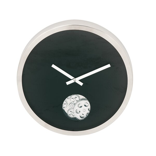 Stainless Steel Gear 17 Wall Clock by Cole & Grey