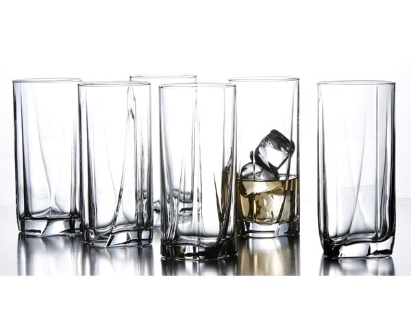Luna 15.5 oz. Highball Glass (Set of 6) by Style Setter