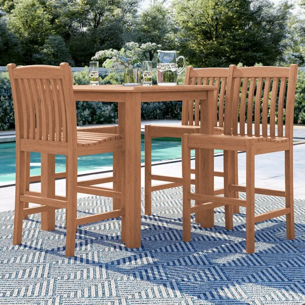 Brighton 5 Piece Teak Dining Set by Sol 72 Outdoor