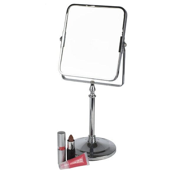 Square Freestanding Cosmetic Mirror by Home Basics