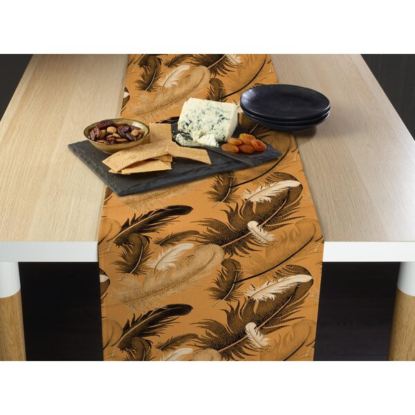 Mixon Natural Feathers Table Runner by World Menagerie