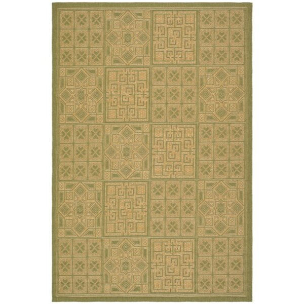 Herefordshire Light Green & Natural Indoor/Outdoor Area Rug by Winston Porter