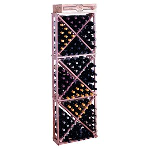 Premium Redwood 132 Bottle Floor Wine Rack by Wine Cellar Innovations