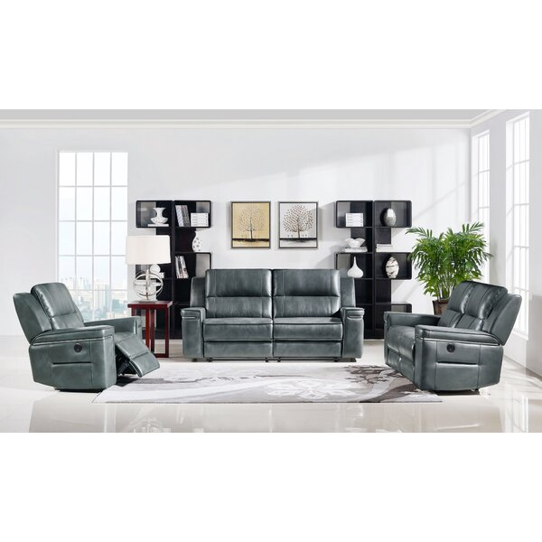 Tuttle Reclining 3 Piece Living Room Set by Orren Ellis