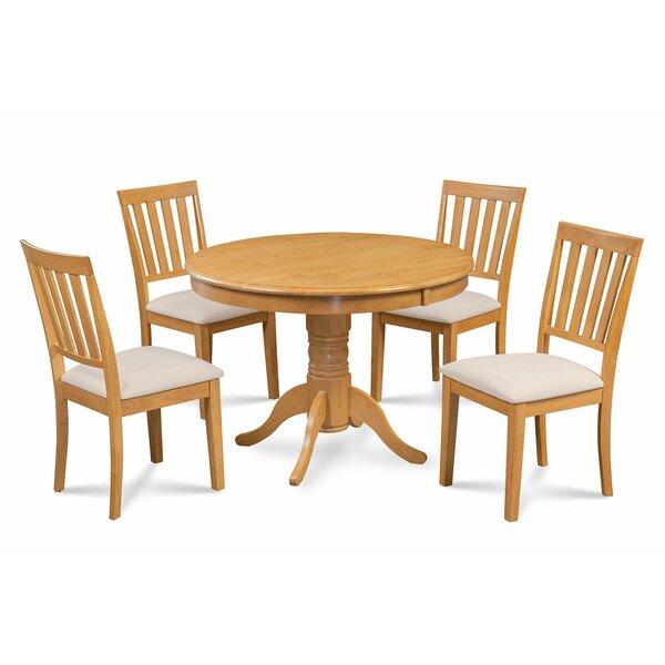 Cedarville Elegant 5 Piece Solid Wood Dining Set by Alcott Hill Alcott Hill