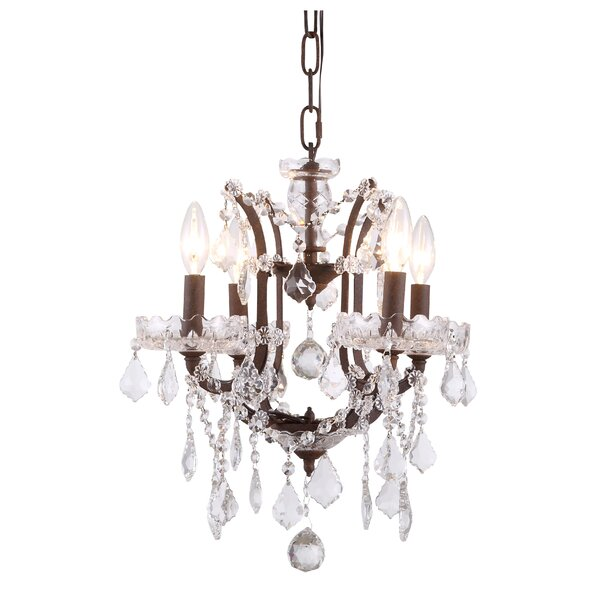 Grabowski 4-Light Candle Style Chandelier by Astoria Grand