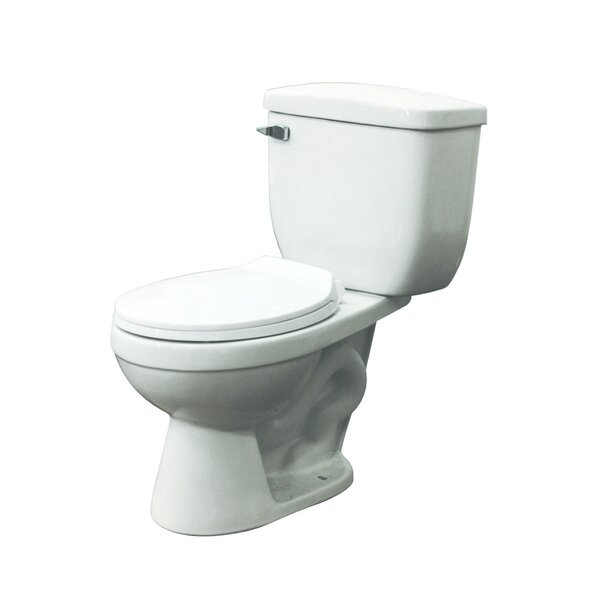 Madison 1.28 GPF Round Two-Piece Toilet by Transolid