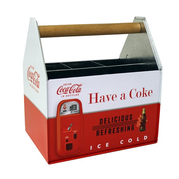 Coke Galvanized Flatware Caddy by Tin Box Company
