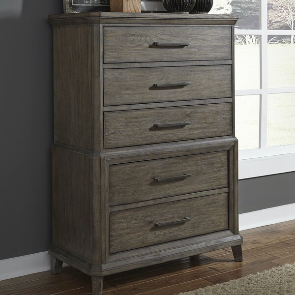 Grigg 5 Drawer Chest by Gracie Oaks