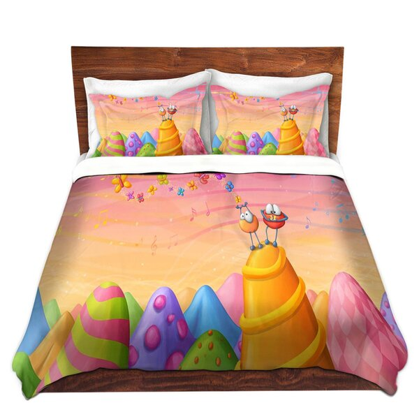 Hemsworth Tooshtoosh Joy Microfiber Duvet Covers by Zoomie Kids