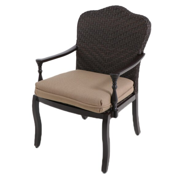 Bungalow Patio Dining Chair with Cushion (Set of 2) by Paula Deen Home