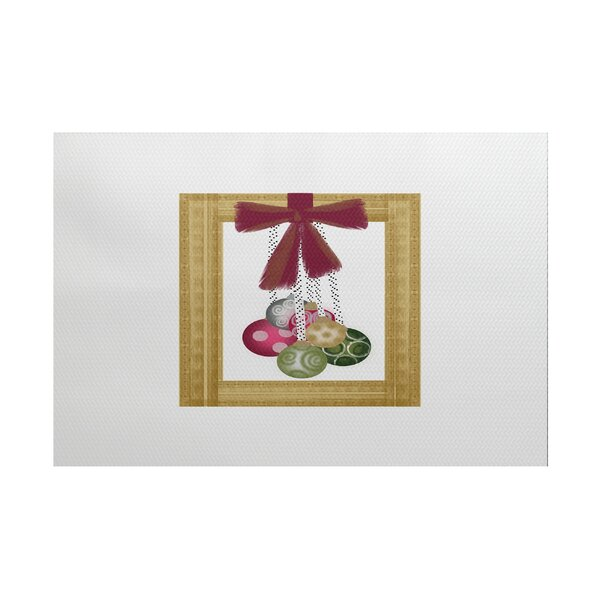 Frame It Up Yellow/Red Indoor/Outdoor Area Rug by The Holiday Aisle