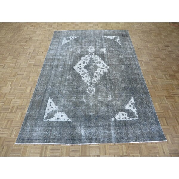 One-of-a-Kind Padro Hand-Knotted Gray Area Rug by Bloomsbury Market