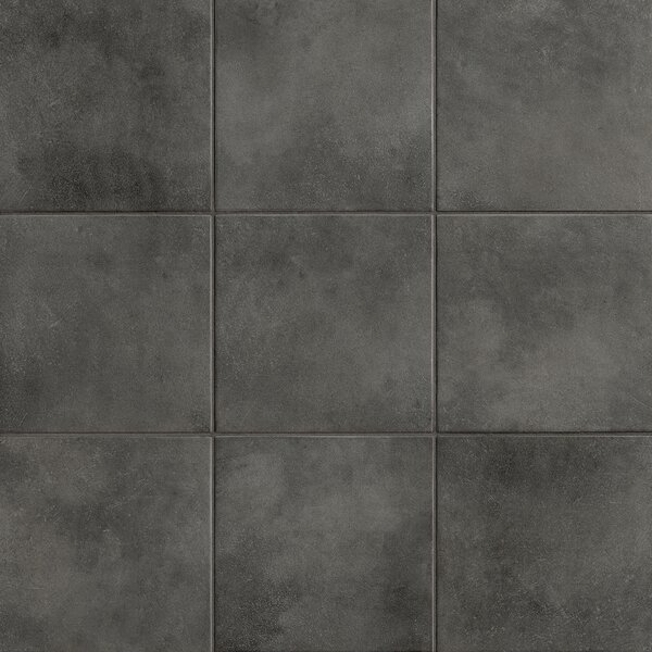 Poetic License 18 x 18 Porcelain Field Tile in Steel by PIXL