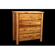 Barnwood 4 Drawer Chest with Round Legs by Utah Mountain