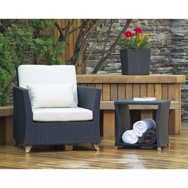 Rattan Teak Patio Chair with Cushions by All Things Cedar