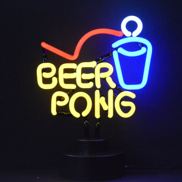 Business Signs Beer Pong Neon Sculpture by Neonetics