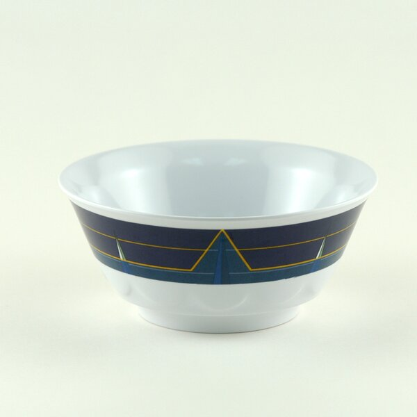 Decorated 20 oz. Melamine Non-skid Soup/Cereal Bowl (Set of 6) by Galleyware Company